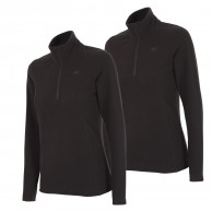 4F Thora Microtherm fleece tröja, dam, svart, 2 stk