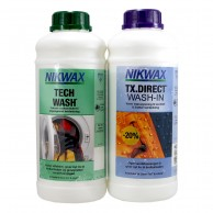 Nikwax Twin pack, Tech Wash + TX-Direct, 1 L