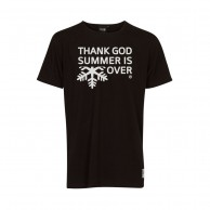Thank God Summer is Over T-shirt, svart/vit