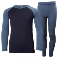 Helly Hansen Lifa Merino Mid Set, Junior, Blå