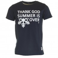 Thank God Summer is Over T-shirt, navy