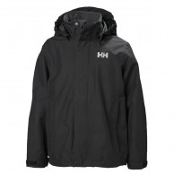 Helly Hansen JR Seven J regnjacka, junior, svart