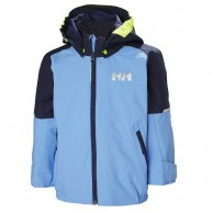Helly Hansen K Shelter, regnjacka, barn, cornflower