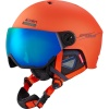 Cairn Eclipse Rescue, Skidhjälm med visir, Orange Blå
