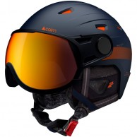 Cairn Shuffle Evolight, Skidhjälm med visir, Mörkblå orange