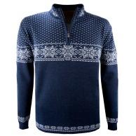 Kama Rune, Merino Sweater, Herr, Marinblå