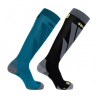 Salomon S/Access skistrømper, 2-pak, Blå/Svart