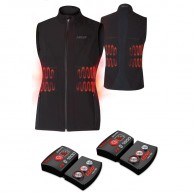 Lenz Heat Vest 1.0 + Lithium Pack rcB 1800, dam, black