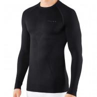 Falke Maximum Warm Longsleeved Shirt Tight Fit, herr, svart