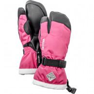 Hestra Gauntlet 3-finger Skidhandskar, Junior, Rosa