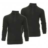 Outhorn Mideli 1/4 zip Fleecetröja, Barn/junior, Svart, 2-pack