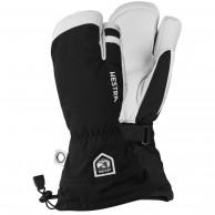 Hestra Army Leather Heli 3 finger Skidhandskar, Svart