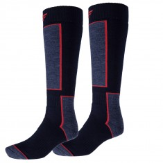 4F Ski Socks, 2 par billiga skidstrumpor, dark navy