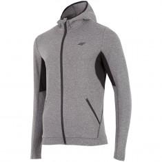 4F Warm Hoodie, fleece jakke, herre, grå