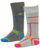 4F Ski Socks skidstrumpor, Barn, 2 par