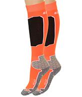 Seger Racer, herr skidstrumpor, 2-par, orange
