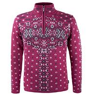 Kama nordisk sweater, dam, röd