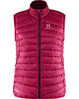 Haglöfs Essens III Down Vest Women, röd