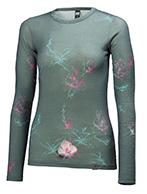 Helly Hansen W Wool Graphic 1/2 zip, grå