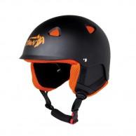 Demon Action skidhjälm, svart/orange
