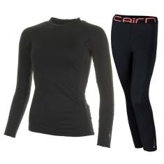 Cairn Warm 180, skiundertøjssæt, dame, sort