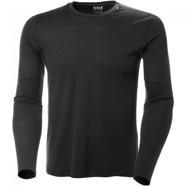 Merino Light Helly Hansen SkidShop ebony herr LS BEHwH5Sq
