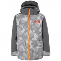 Helly Hansen Skyhigh skijakke, junior, grå camo