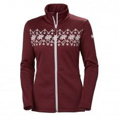 Helly Hansen W Graphic fleece jacket, dame, cabernet