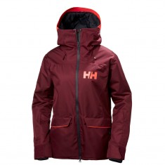Helly Hansen W Powderqueen Skijakke, dame, bordeaux
