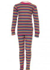 Hulabalu uld skiundertøj, pige, stribet