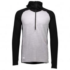 Mons Royale Checklist Hood LS, skiundertrøje, Black Grey Marl