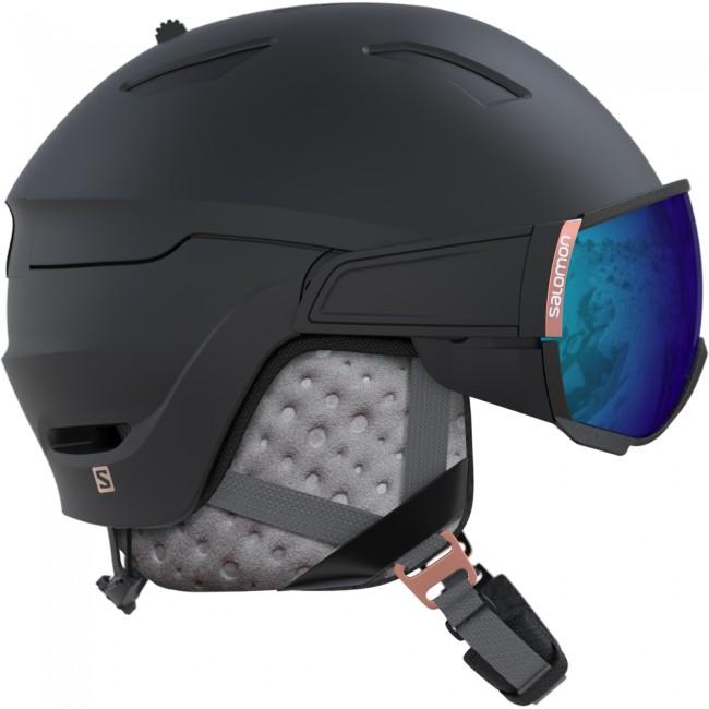 plockade upp super populärt på fötter kl Salomon Mirage, skidhjälm med visir, svart - Skidresor.com SkidShop