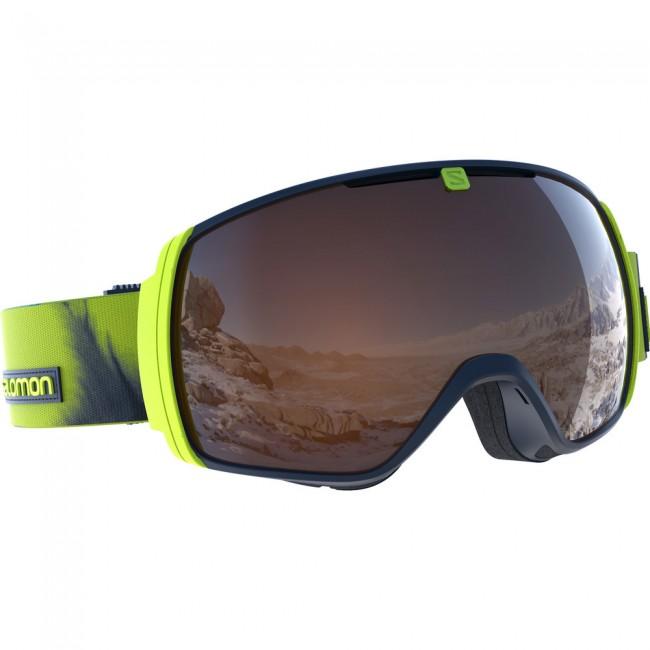 Salomon XT One goggles, lime
