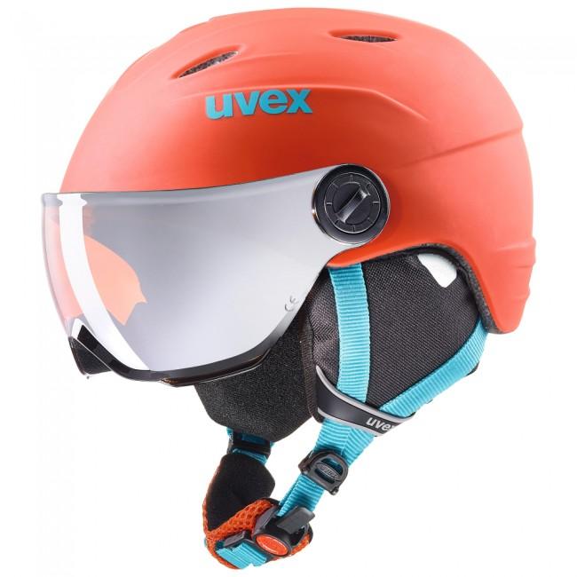 956946554 Uvex junior pro, skidhjälm med visir, orange